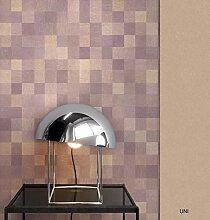 NEWROOM Tapete grafisch Braun Geometrisch