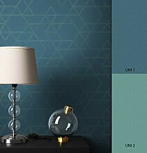 NEWROOM Tapete grafisch Grün Geometrisch Grafik