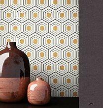 NEWROOM Tapete grafisch Metallic Geometrisch