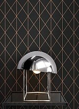 NEWROOM Tapete grafisch Metallic Geometrisch