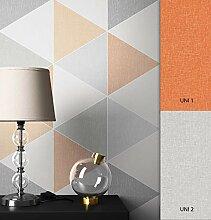 NEWROOM Tapete grafisch orange Dreiecke Retro