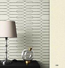 NEWROOM Tapete grafisch schwarz Linien Grafisch