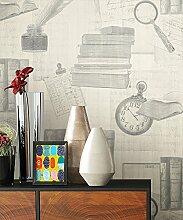 NEWROOM Tapete Grau Papiertapete Beige Natur schöne moderne und edle Design Optik , inklusive Tapezier Ratgeber