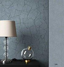 NEWROOM Tapete Grau/Silber Abstrakt Rechtecke