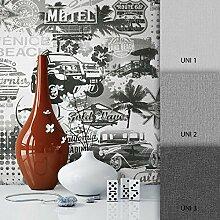 NEWROOM Tapete Grau Specials Papiertapete Papier moderne Design Optik inkl. Tapezier Ratgeber