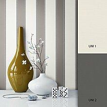 NEWROOM Tapete grau Vliestapete schwarz grafisch,Modern schöne moderne und edle Design Optik , inklusive Tapezier Ratgeber