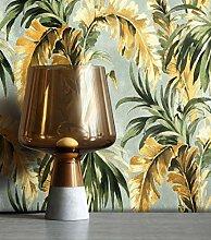NEWROOM Tapete Modern Dschungel Palmen grün