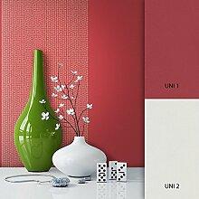 NEWROOM Tapete Rot Streifen Linien Modern Vliestapete Vlies moderne Design Optik Tapete Landhaus inkl. Tapezier Ratgeber