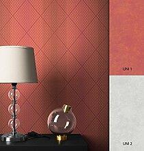 NEWROOM Tapete Streifen Orange Geometrisch Grafik Vliestapete Rot Vlies Modern inkl. Tapezier Ratgeber   Streifentapete