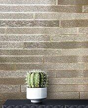 NEWROOM Tapete Streifen rot Mauer Stein Modern