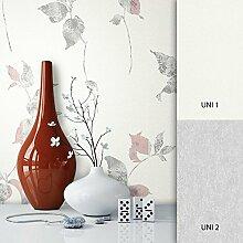 NEWROOM Tapete Weiß Vliestapete Blumen