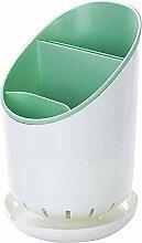 NEWSTARTS 1 STÜCK Kunststoff lagerung stäbchen rack löffel racks stäbchen käfig mehrzweck küche geschirrablage rack stäbchen rohr küche (Grün)