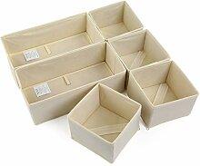 NEWSTYLE 6 Stück Aufbewahrungsbox Stoff Set