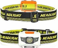 Newyond 4-in-1 LED-Scheinwerfer Taschenlampe mit rotem Licht - hellste Scheinwerfer für Camping Wandern Rucksacking Fishing Jagd (keine Batterien)