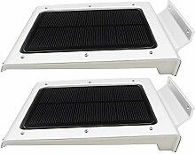 newzor Outdoor Solar Power Light 46LEDs Sensitive Bewegungsmelder Solar Light Wasserdicht Yard Garten Solar Panel Treppen Lampe mit über Ladekabel Schutz Auto On/Off Tag/Nacht, silber 3.70 W 3.70 voltsV