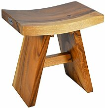 Nexos DIVERO Hocker Suar Holz Sitzhocker Holzhocker massiv, reine Handarbei