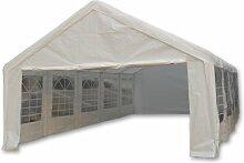Nexos Hochwertiges Festzelt Partyzelt Bierzelt Gartenzelt PE-Pavillon stabil wasserdicht 5 x 10 m weiß