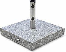 Nexos Sonnenschirmständer Granit eckig grau mit