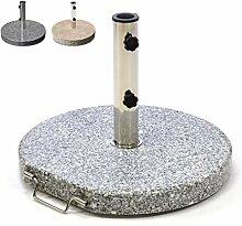 Nexos Sonnenschirmständer Granit rund grau mit