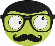 NeXtime 3089Mr. Mustache Wanduhr Holz Mehrfarbig