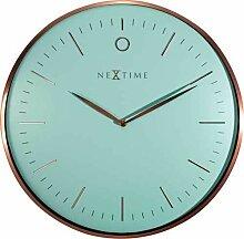 NeXtime 3235tq Quartz Wall Clock Kreis braun,