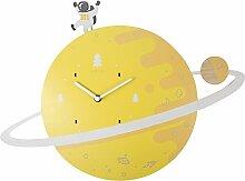 NexTime Kinderzimmer Wanduhr Spaceman aus Holz,