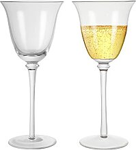 NexusWares Rot-/Weißwein-Kristallgläser, 2