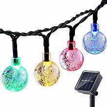 NEXVIN, Solar Lichterkette Außen mit LED Kugel 7M