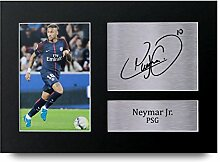 Neymar Jr Signiert A4bedruckt Autogramm, PSG Print Foto Bild Präsentation Display–tolle Geschenkidee