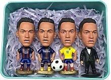 Neymar Vier Action-Figuren Set Mini fußballstar