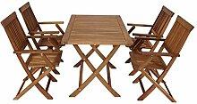 NFP 5 teilige Sitzgruppe 4 Stühle 1 Tisch