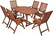 NFP 7 Teilige Sitzgruppe 6 Stühle 1 Tisch