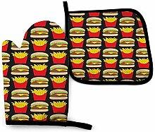 ngxianbaimingj Cheeseburger und Pommes On Black
