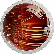 NH Schubladenknauf, rund, Glas, 4 Stück