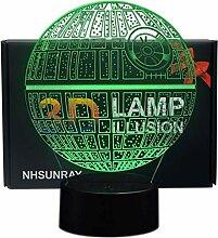 NHsunray Star Wars Geschenke 3D Optische