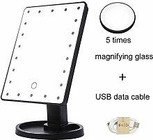 NHX Spiegel Lichter Mit 5-Fach-Vergrößerungsglas