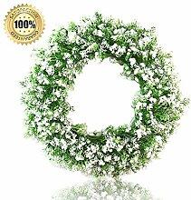NIBESSER Kranz Deko Wandkranz Künstliche Blumen