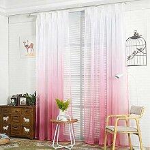 NIBESSER Transparent Farbverlauf Gardine Vorhang