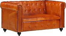 Niccone Chesterfield-Sofa 2-Sitzer Ledersofa