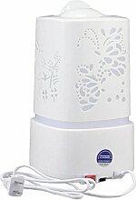 niceEshop(TM) 1.5L Aromapflege Elektrische Ultraschall Aroma Ätherisches Öl Diffusor Luftreiniger Aromas Zerstäuber Luftbefeuchter (Milchweiß, Europa Stecker)
