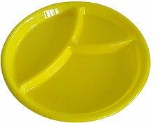 niceeshop(TM) Kinder Mikrowelle Hart Kunststoff Rund Geschirrablage Teller,Zufällige Farbe