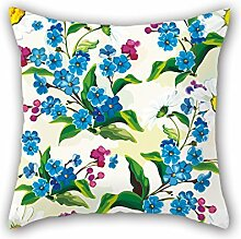 NICEPLW Pillow Cases Of Flower,for Dinning Room,dance Room,deck Chair,kids,bar,pub 20 X 20 Inches / 50 By 50 Cm(double Sides)
