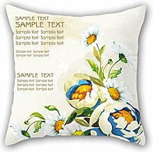 NICEPLW Pillow Shams Of Flower,for Chair,couch,dining Room,bar,kids Girls,husband 18 X 18 Inches / 45 By 45 Cm(each Side)