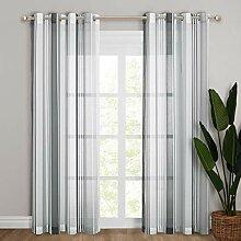 NICETOWN Weiße Gardinen für Wohnzimmer -