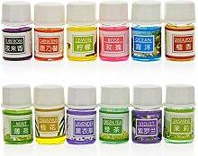 niceyo Stricknadel Pflanze Essential Öl Set Aromatherapie Duft Duft für Luftbefeuchter für Duft Lampe, 12verschiedene Düfte