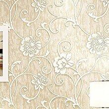 Nicht Aus Tapete, Garten Mit Blumen Schlafzimmer Tapeten, Wohnzimmer Tv Hintergrund Wall - Tapete,Beige