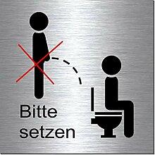 Dusche Ab /€ 3,90-Echte Emaille-Hinweisschilder-WC-Toilette-Bad-etc-Schild-T/ürschild-100 x 70 mm wei/ß//braun