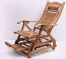 Nichtstuer Bambus Schaukelstuhl Klappstuhl Stuhl