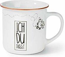 NICI 45039 Tasse Ich Du Passt, Porzellan