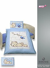 NICI Baby Bettwäsche Renforce Lovely Bear in blau